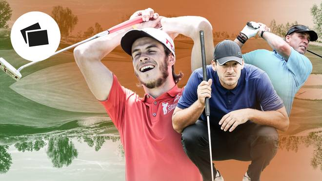 Gareth Bale spielt in seiner Freizeit sehr gerne Golf (l.)