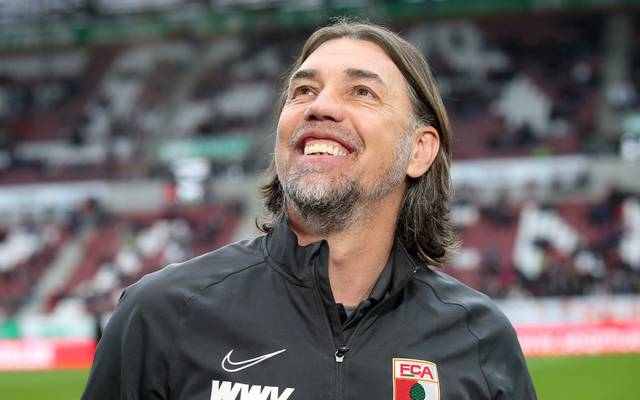 AUGSBURG, GERMANY - FEBRUARY 29: Martin Schmidt, head coach of Augsburg smiles prior to the Bundesliga match between FC Augsburg and Borussia Moenchengladbach at WWK-Arena on February 29, 2020 in Augsburg, Germany. (Photo by Alexander Hassenstein/Bongarts/Getty Images)