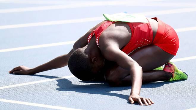 Ruth Jebet gewann 2016 Gold über 3000 Meter Hindernis