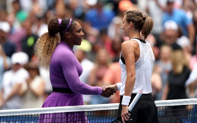 Serena Williams nach ihrem Sieg gegen Petra Martic