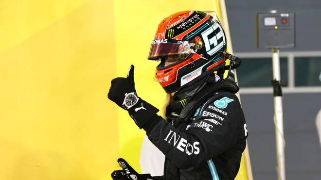 George Russell springt beim zweiten Rennen in Bahrain für den erkrankten Lewis Hamilton bei Mercedes ein