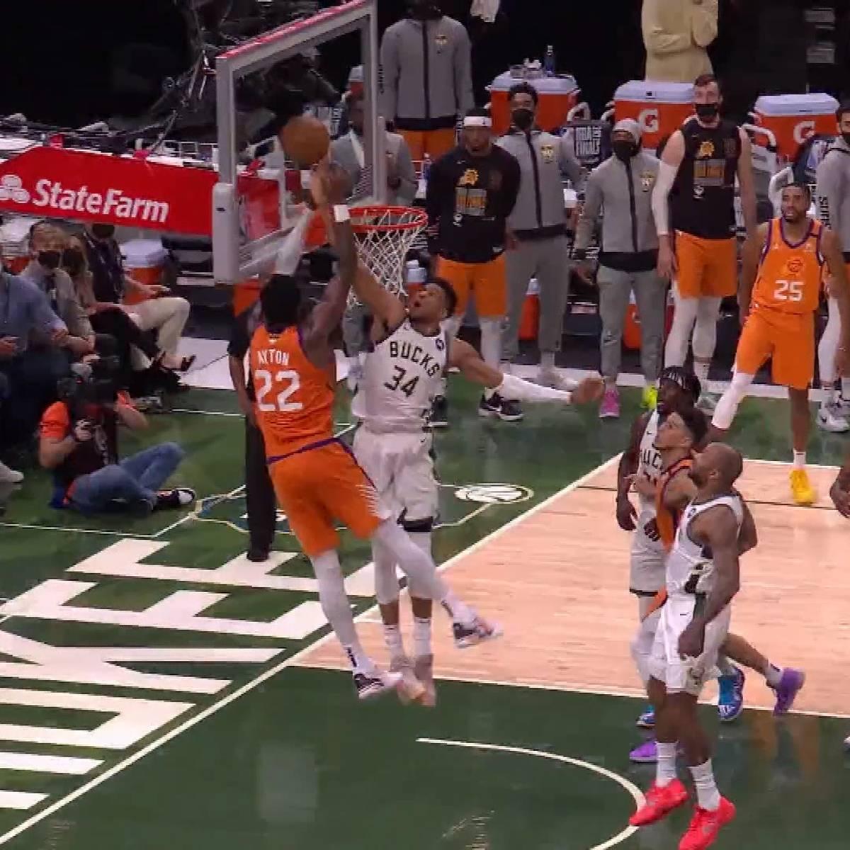 Diese Aktion ist NBA-Geschichte! Antetokounmpo mit Monster-Block