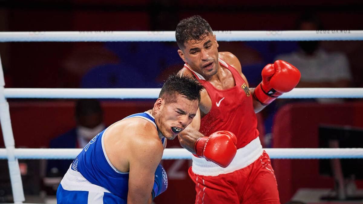 Im olympischen Achtelfinale setzte sich Ammar Riad Abduljabbar (r.) gegen den Peruaner José María Lúcar Jaimes durch