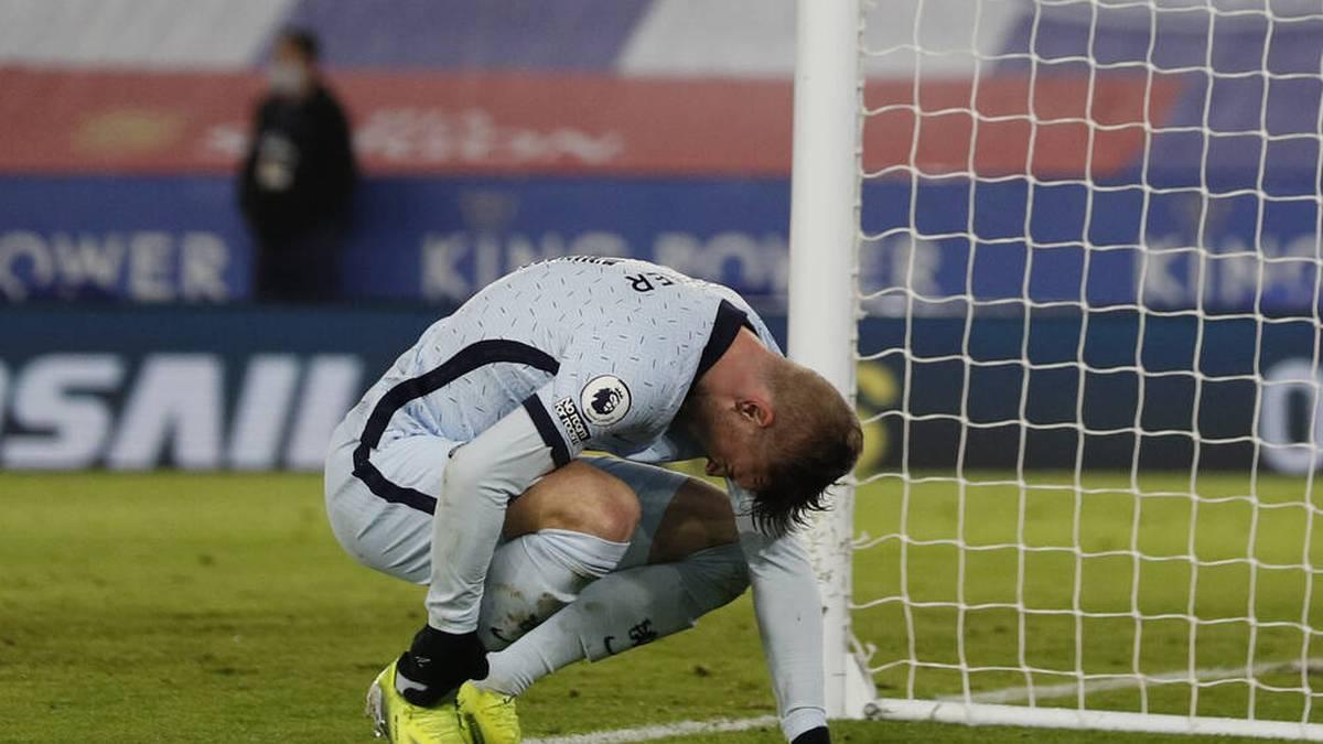 Bitter für den FC Chelsea: Der Treffer von Timo Werner gegen  Leicester City zählte nicht