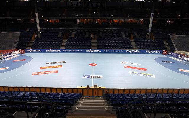 KIEL, GERMANY - SEPTEMBER 14:  A general view of the Sparkassen Arena before the Toyota Handball Bundesliga match between THW Kiel and Frisch Auf Goeppingen at the Sparkassen Arena on September 14, 2011 in Kiel, Germany.  (Photo by Martin Rose/Bongarts/Getty Images)