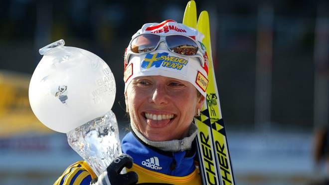 Magdalena Forsberg gewann sechsmal den Gesamt-Weltcup