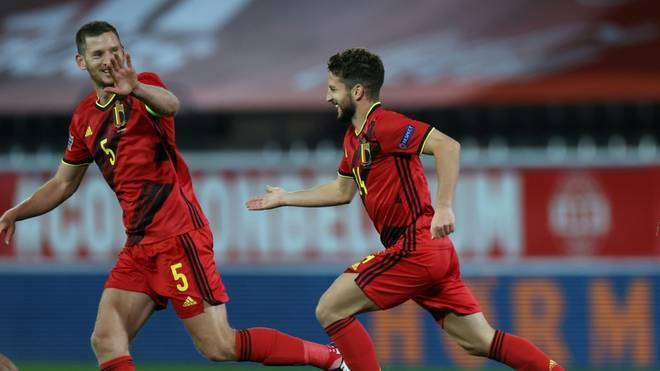 Dries Mertens (r.) traf gegen England per Freistoß