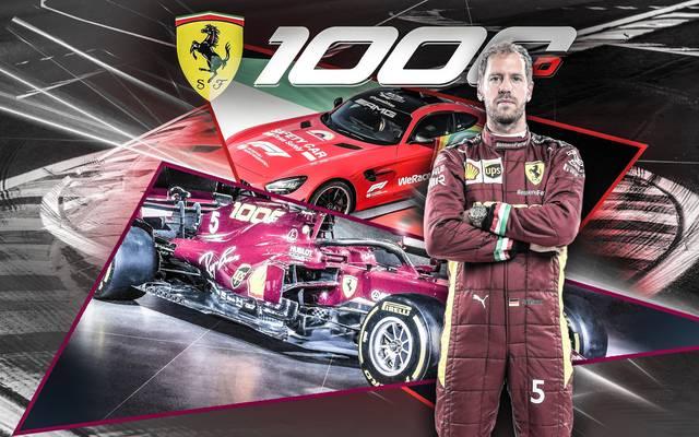 Beim 1000. Ferrari-GP ist Rot die bestimmende Farbe