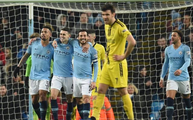 Die Spieler von Manchester City durften neun Torerfolge bejubeln