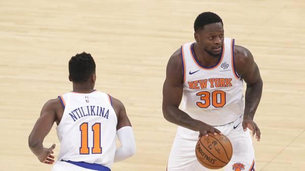 Julius Randle (r.) ist aktuell der größte Star der New York Knicks
