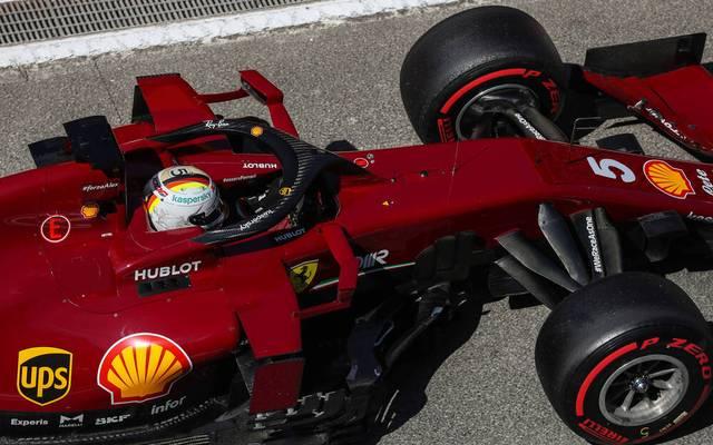 Sebastian Vettel hat auf der Hausstrecke von Ferrari große Probleme