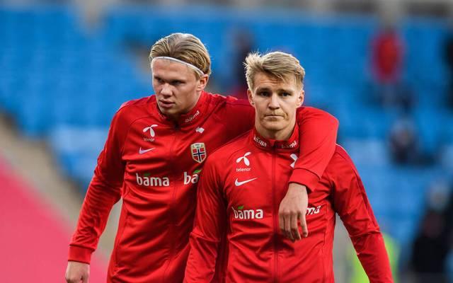 Erling Haaland und Martin Odegaard gehen mit Norwegen in die WM-Quali