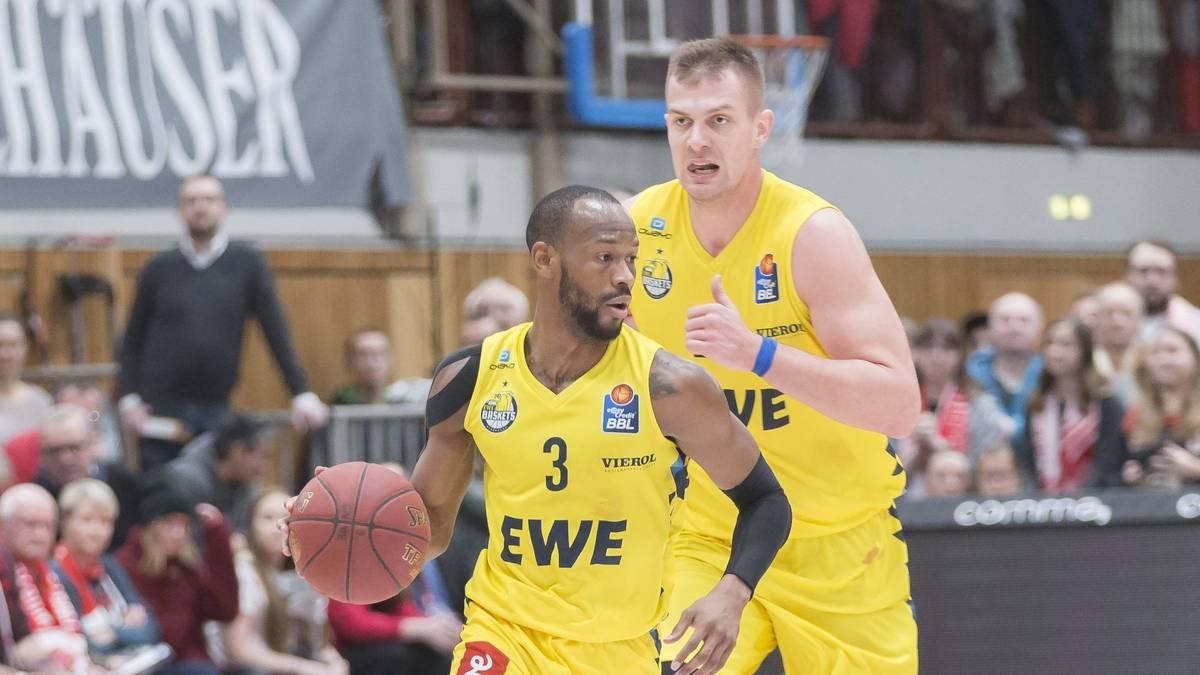 BBL: Wettbewerbsverzerrung? Oldenburg reagiert auf Vorwürfe aus Bremerhaven , William Cummings (mit Ball) gehört zu den Leistungsträgern bei den EWE Baskets Oldenburg