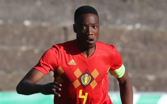 Ardy Mfundu im Trikot der belgischen U16-Nationalmannschaft