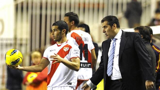 Rayo Vallecano's coach Jose Ramon Sandov