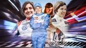 Jutta Kleinschmidt (2.v.l.) gehört zu den erfolgreichsten Frauen im Motorsport