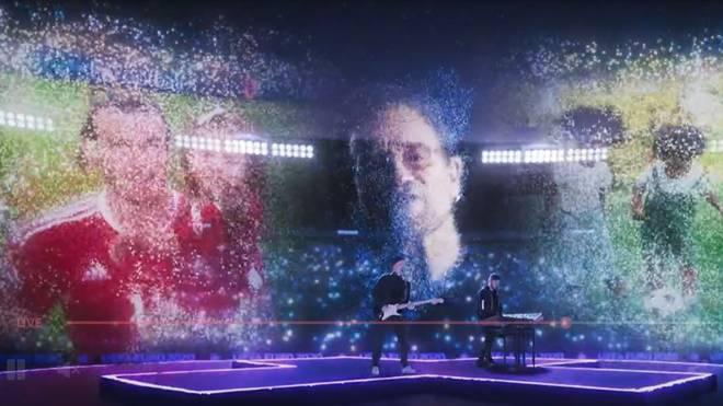 Auch Hologramm-Auftritt von U2-Frontman Bono schmückte die EM-Eröffnungsfeier