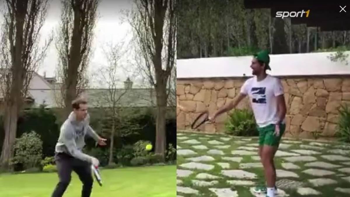100-Volley-Challenge! Ehepaar Murray fordert die Djokovic's
