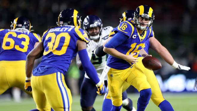Quarterback Jared Goff feierte mit den Los Angeles Rams einen wichtigen Sieg gegen Seattle