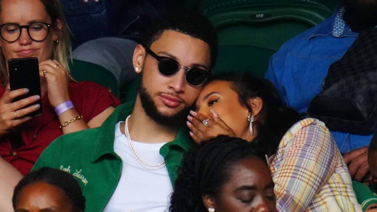 Ben Simmons mit Freundin Maya Jama in Wimbledon