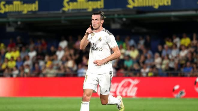 Gareth Bale traf zweimal für Real Madrid, ehe er vom Platz flog