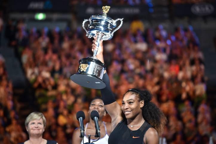 Mit ihrem 23. Titel bei einem Grand Slam hängt Williams eine Ikone des Sports ab