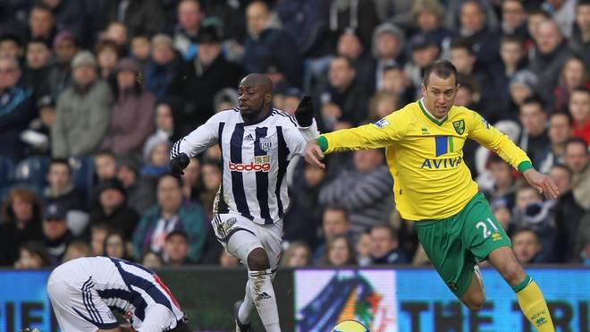 Aaron Wilbraham (r.) spielte von 2011 bis 2012 für Norwich City in der Premier League