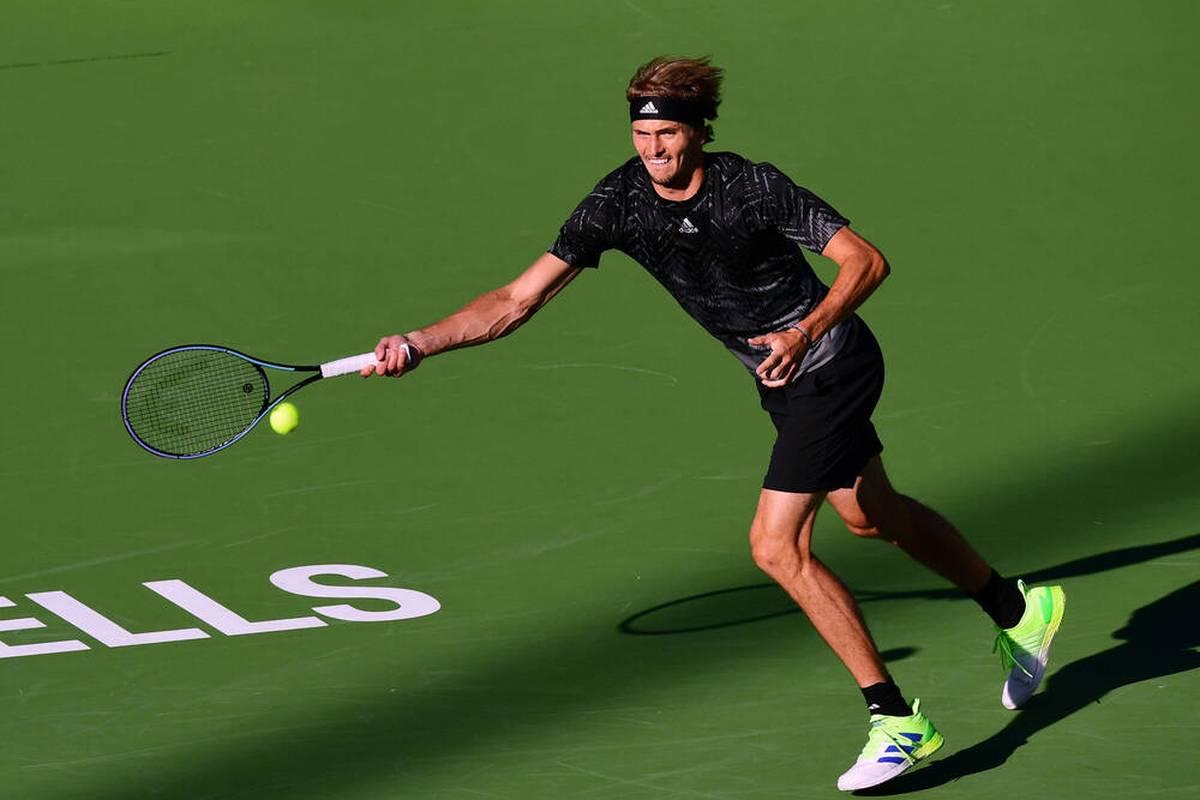 Alexander Zverev steht in Indian Wells nach einem Sieg über Andy Murray im Achtelfinale