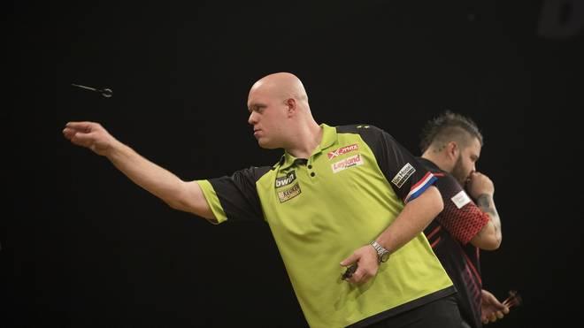 Michael van Gerwen steht im Viertelfinale