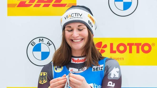 Julia Taubitz wurde erstmals Weltmeisterin