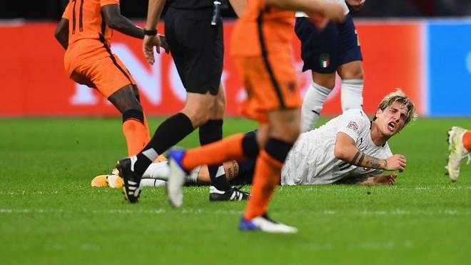 Nicolò Zaniolo verletzte sich im Spiel gegen die Niederlande