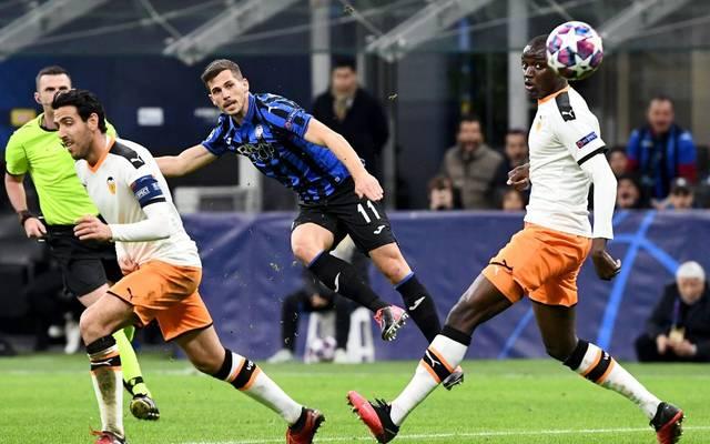 Das Spiel zwischen dem FC Valencia und Atalanta Bergamo findet vor leeren Rängen statt
