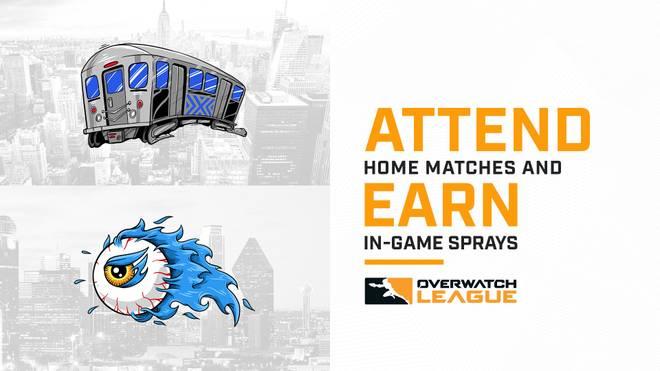Overwatch League: Exklusive Sprays für Besucher der Heimspiele