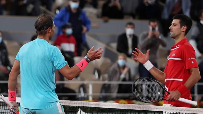 Rafael Nadal (l.) und Novak Djokovic (r.) können beide ins Halbfinale kommen