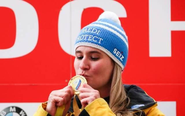 Natalie Geisenberger wurde bei den Olympischen Winterspielen 2014 in Sotschi sowie bei den Olympischen Winterspielen 2018 in Pyeongchang jeweils Doppel-Olympiasiegerin