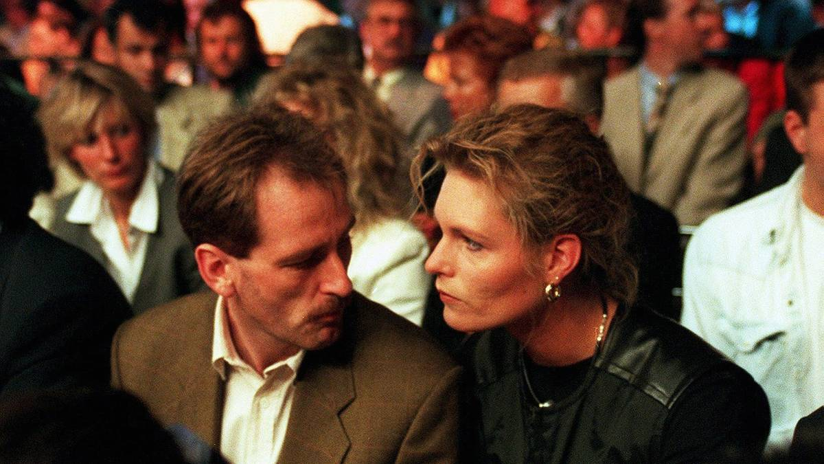 Katrin Krabbe (r.) und Lutz Zimmermann waren seit 1994 verheiratet