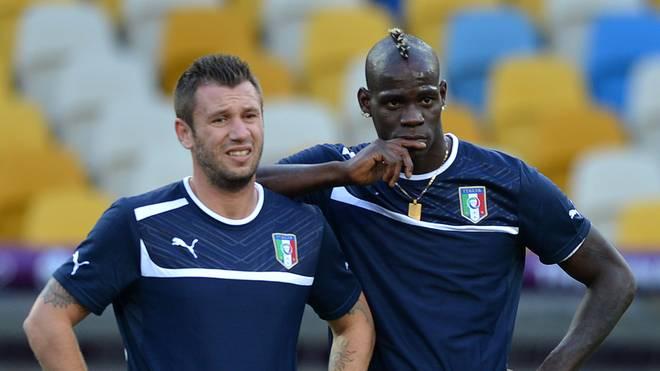 Antonio Cassano und Mario Balotelli