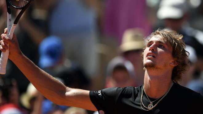 TENNIS French OPEN, Alexander Zverev jubelt erleichtert