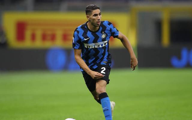 Achraf Hakimi of Internazionale during the Serie A match at Giuseppe Meazza, Milan. Picture date: 17th October 2020. Picture credit should read: Jonathan Moscrop Sportimage PUBLICATIONxNOTxINxUK SPI-0698-0219