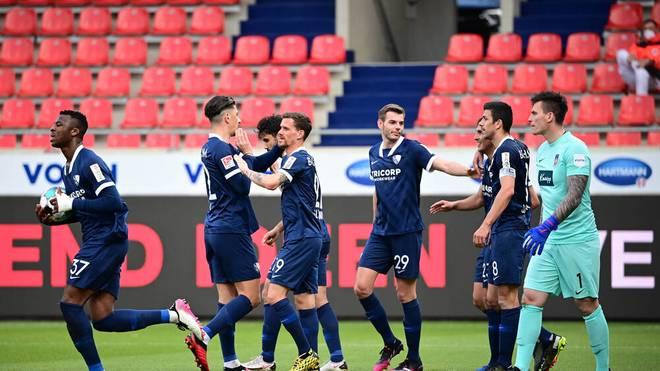 Der VfL Bochum bejubelt das 1:0 gegen Heidenheim
