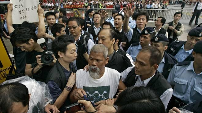 In Hongkong herrschen schon seit Wochen Proteste gegen China