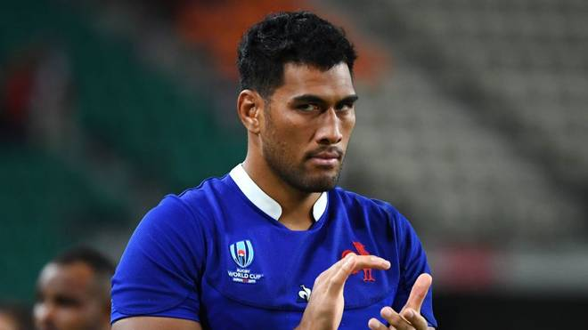 France's lock Sebastien Vahaamahina reacts after losing the Japan 2019 Rugby World Cup quarter-final match between Wales and France at the Oita Stadium in Oita on October 20, 2019. (Photo by GABRIEL BOUYS / AFP) (Photo by GABRIEL BOUYS/AFP via Getty Images)
