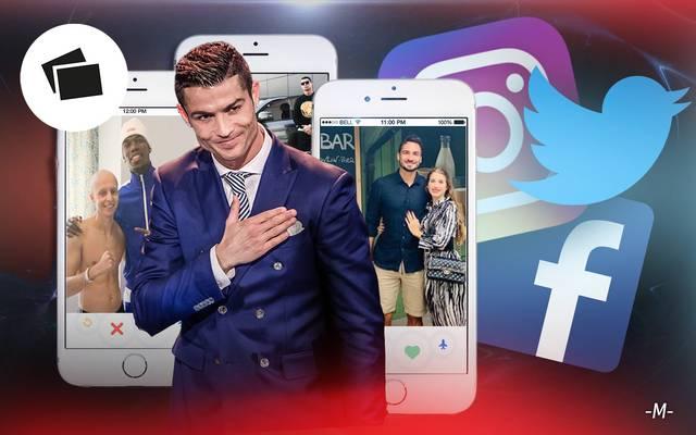 Fußballer in den sozialen Medien