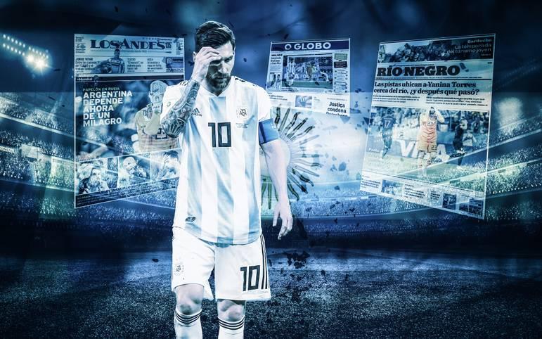 Nach dem Totalausfall von Argentinien gegen Kroatien begraben die internationalen Medien Messi und seine Mannschaft. Die Kroaten feiern dagegen ausgelassen den Einzug ins Achtelfinale. SPORT1 zeigt internationale Pressestimmen
