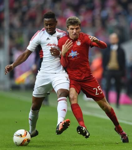 Platz 5: Roger (FC Ingolstadt) - 78,9 Prozent gewonnene Zweikämpfe im Spiel beim FC Bayern
