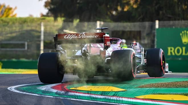 Kimi Räikkönen verpasste aufgrund einer Track-Limit-Strafe den Einzug ins Q2