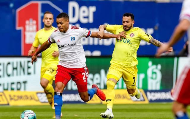 Der HSV gewann das Zweitliga-Spiel gegen die Würzburger Kickers mit 3:1