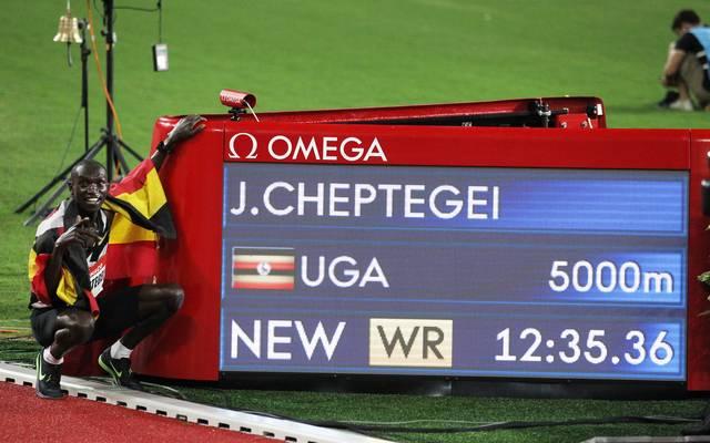 Mit einem Weltrekord meldet sich Joshua Cheptegei aus der Corona-Pause zurück