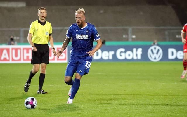 Philipp Hofmann spielt seit 2019 beim Karlsruher SC