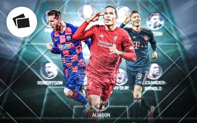 Lionel Messi, Virgil van Dijk und Robrt Lewandowski stehen im UEFA-Team 2019